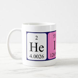 Heidi periodic table name mug