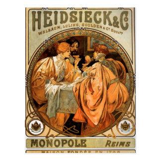 Heidsieck by Alphonse Mucha Postcard