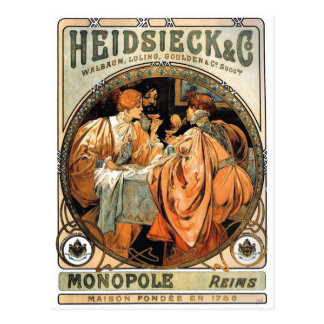 Heidsieck & Co ~ by Alphonse Mucha Postcard