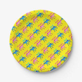 Heifer or Bull Farm Style Gender Reveal Paper Plate