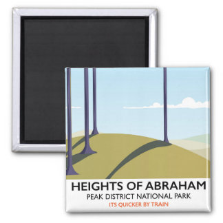 Heights of Abraham Peak District Rail poster Square Magnet