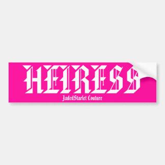 HEIRESS, JadedStarlet Couture Bumper sticker