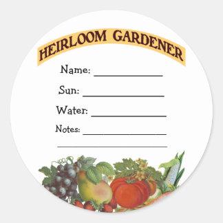 Heirloom Gardener Custom Seed Packet Stickers
