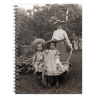 Heirloom Gardening Garden Mother Daughter 1890 Spiral Notebook