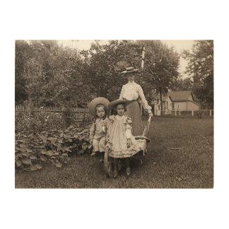 Heirloom Gardening Garden Mother Daughter 1890 Wood Wall Art