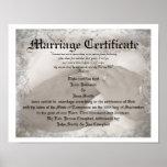 Heirloom Marriage Certificate
