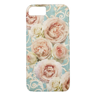 Heirloom Roses with Damask iPhone 8/7 Case