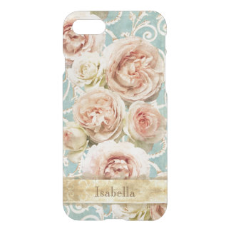 Heirloom Roses with Damask Personalized iPhone 8/7 Case