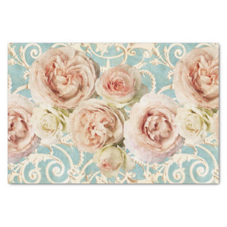 Heirloom Roses with Damask Tissue Paper