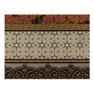 Heirloom Textile with Decorative Patterns Postcard