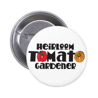 Heirloom Tomato Gardener 6 Cm Round Badge