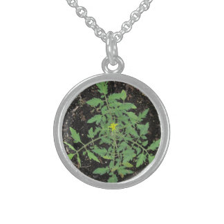 Heirloom Tomato Plant Peace Sign Necklace - USA