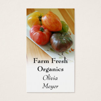 Heirloom Tomatoes Business Cards