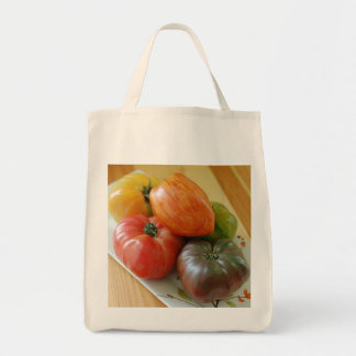 Heirloom Tomatoes Grocery Tote Canvas Bag