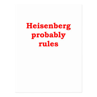 HEISENBERG.png Postcard