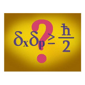 Heisenberg uncertainty principle postcard