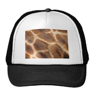 Helaine's Giraffe Pattern Trucker Hats