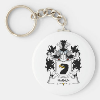 Helbich Family Crest Basic Round Button Key Ring