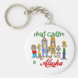Held Captive in Alaska Basic Round Button Key Ring