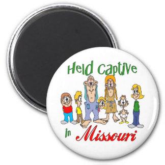 Held Captive in Missouri 6 Cm Round Magnet