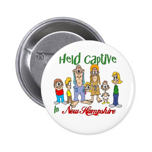 Held Captive in New Hampshire Pinback Buttons