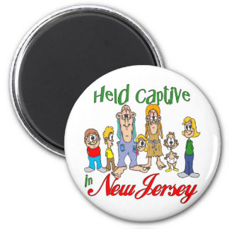 Held Captive in New Jersey 6 Cm Round Magnet