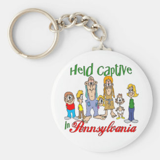 Held Captive in Pennsylvania Basic Round Button Key Ring