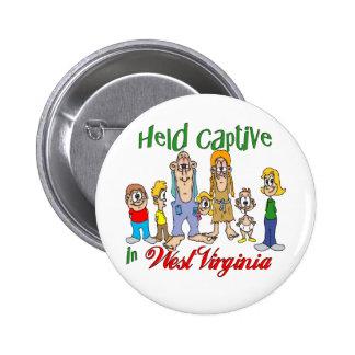 Held Captive in West Virginia 6 Cm Round Badge