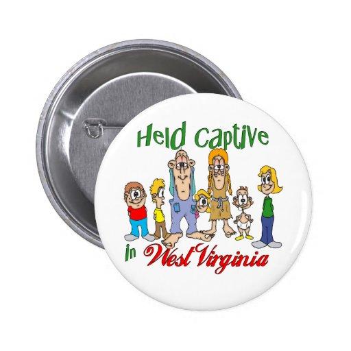 Held Captive in West Virginia Pin