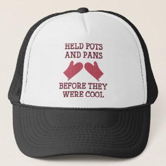 Held Pots And Pans Trucker Hat