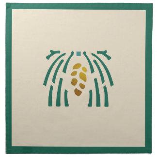 Helen Foster Pine Border Stencil Napkin