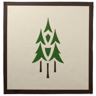 Helen Foster Spirit of the Woods Pattern Napkin