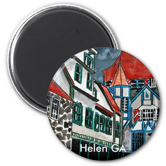 Helen GA vacation paradise German town Georgia art Magnet