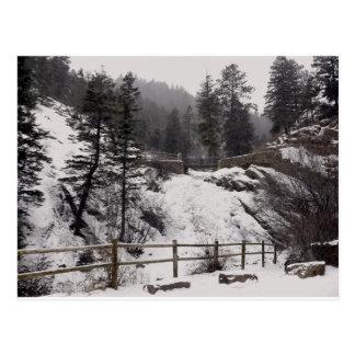 Helen Hunt Falls in Winter Postcard