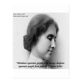 Helen Keller & Famous Deaf/Blind Quote Postcard