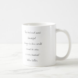 Helen Keller Handwritten Quote Mug