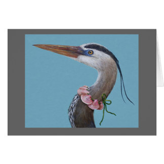 Helen the great blue heron card