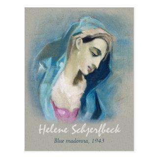 Helene Schjerfbeck Blue Madonna 1943 Postcard