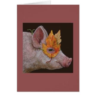 Helga the masked pig card