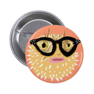 Helga The Spinster Puffer Fish 6 Cm Round Badge