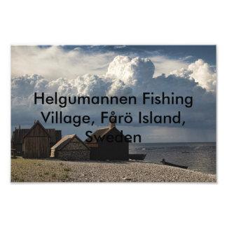 Helgumannen Fishing Village, Fårö Island, Sweden Photo Art