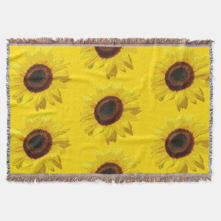 Helianthus annuus - Throw Blanket