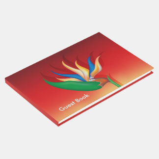 Heliconia Flower Guest Book