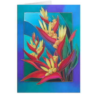 HELICONIA IN THE WIND CARD