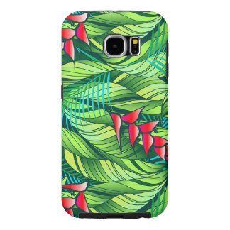 Heliconia tropical floral samsung galaxy s6 cases
