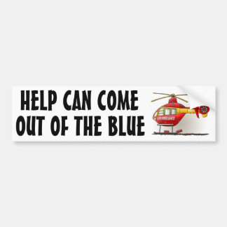 Helicopter Ambulance Bumper Sticker HCOB