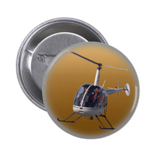 Helicopter Button / Pin Cool Helicopter Button