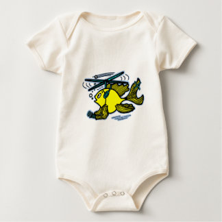 Helicopter Fish Baby Bodysuit