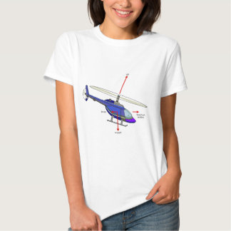 Helicopter Flight Diagram Tee Shirt