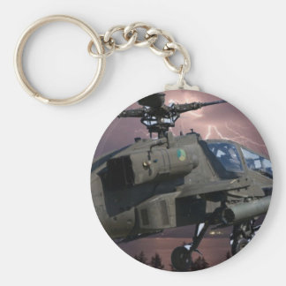 HELICOPTER FLYING OVER MUNICH BASIC ROUND BUTTON KEY RING